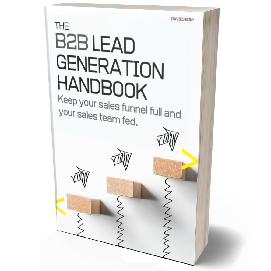 B2B Lead Generation Handbook Ebook Cover 3D- 890 x 890